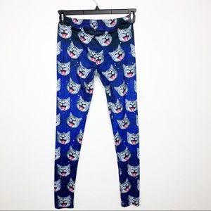 Pants & Jumpsuits - Crazy Cat Leggings Size XS/S